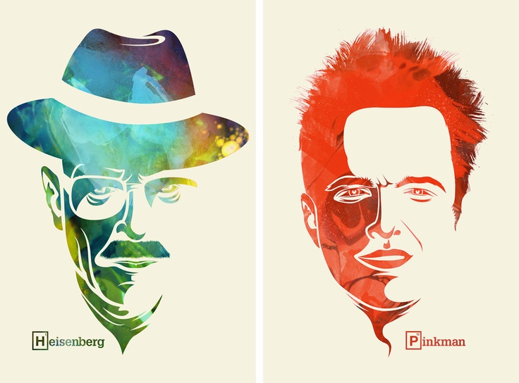 Heisenberg and Pinkman: Pinkman, Heisenberg, Wall Art, Artists, Colors, Breakingbad, Breaking Bad Art, Graphics, Stuffed French Toast
