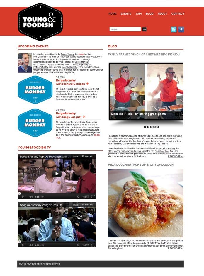 #wordpress #website for Young & foodish.com