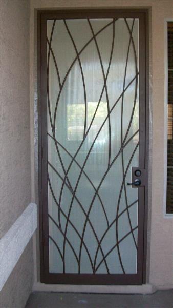 Leafy Steel Door