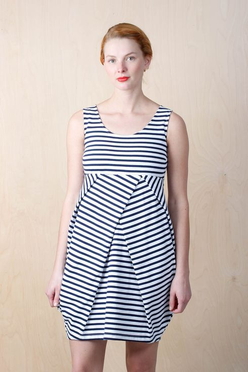 EM Pleatdress Stripe - emma och malena