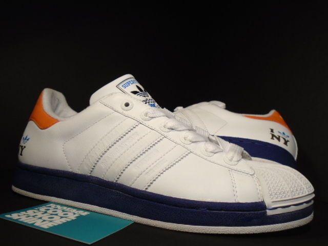 newest a72b4 c8381 2005 adidas superstar ii 2 city i love new york knicks ny white blue orange  10  emmo  Pinterest  Adidas superstar, New York Knicks and Blue orange