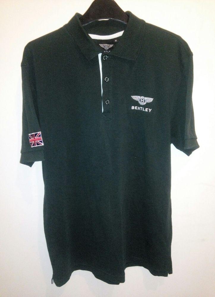 BENTLEY MOTORS England Embroidered Polo Shirt British Racing Green mens Size M