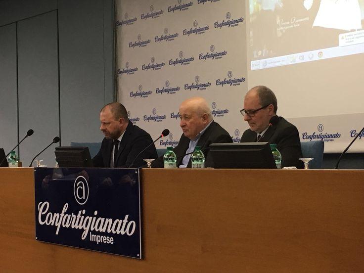 16/2/2017. Giovan Battista Donati (Delegato nazionale alle categorie), Guido Radoani e Bruno Panieri, insediano la nuova Consulta Nazionale delle Categorie