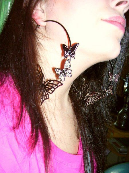 new earring with butterflies :-)