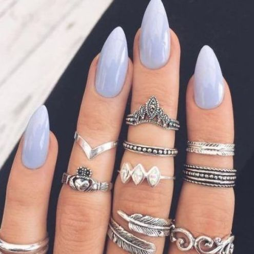 27 stylish short almond shaped nails design ideas in 2020