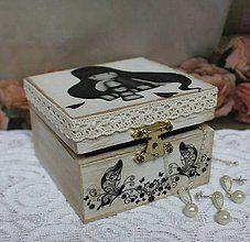 Krabičky - romantická šperkovnička - 6365701_