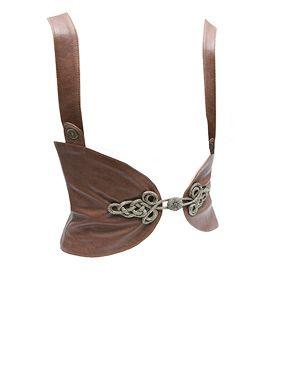 Leather Braced Filigree Belt - could be kinda cool
