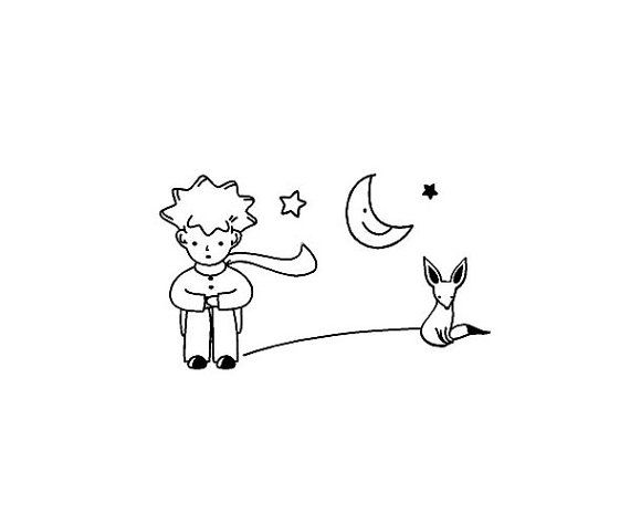 The Little Prince Fox Moon Star Decor Mural Art vinyl by ZLonline, $5.79