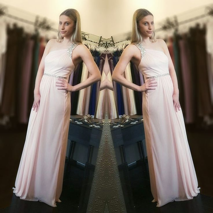 Long Island dress in pink - One shoulder glamour.