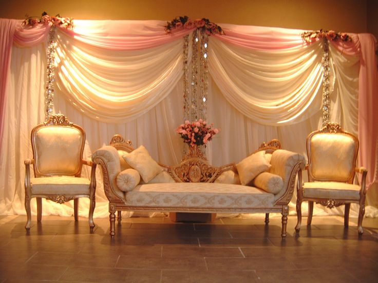Best 25 wedding stage decorations ideas on pinterest for Background decoration for indian wedding