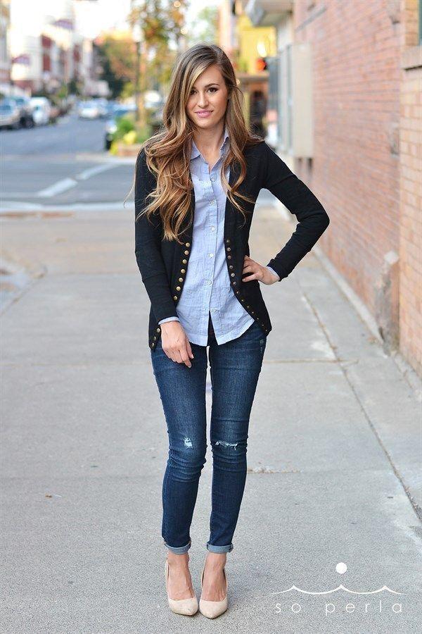 21 roupas elegantes com jeans   – Outfits