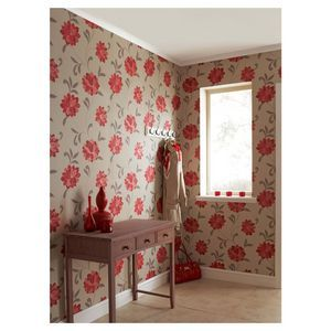 Vintage Valencia Wallpaper - Red from Masters $35