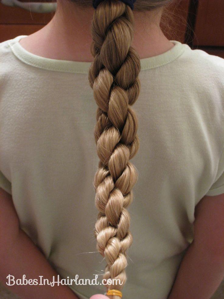 How to do a Hawser Braid from BabesInHairland.com  #hawserbraid #twists #video