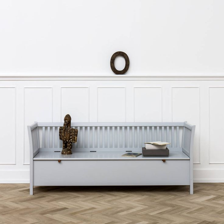 scandinavian bench seat in white or black by nubie modern kids boutique | notonthehighstreet.com