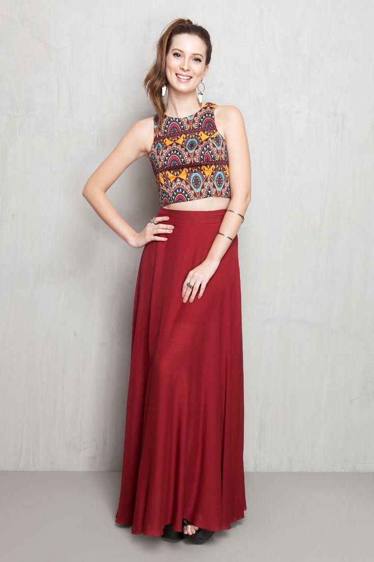saia longa color | Dress to