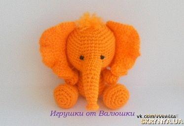 Медовый слоник Мягкая вязаная крючком игрушка амигуруми слон, слоненок