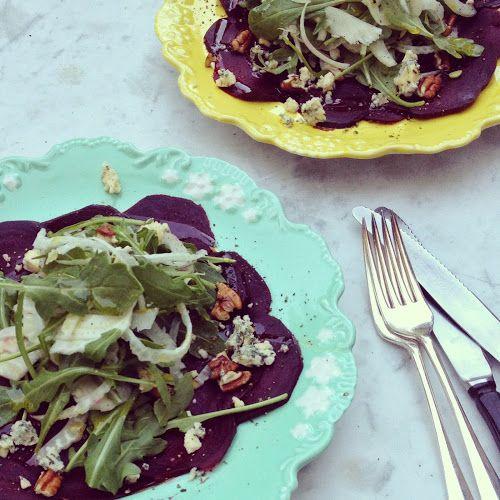 Geroosterde bietensalade met venkel en stilton | hoge hakken