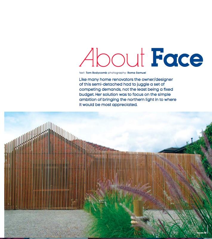 about face - photography: Roma Samuel, architect: Rachel Eastwood