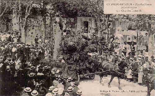 Chateau Gontier - Fête des Fleurs du 27 mai 1906 Char des Ecureuils