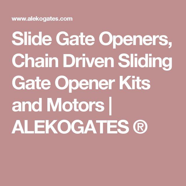 Slide Gate Openers, Chain Driven Sliding Gate Opener Kits and Motors | ALEKOGATES ®