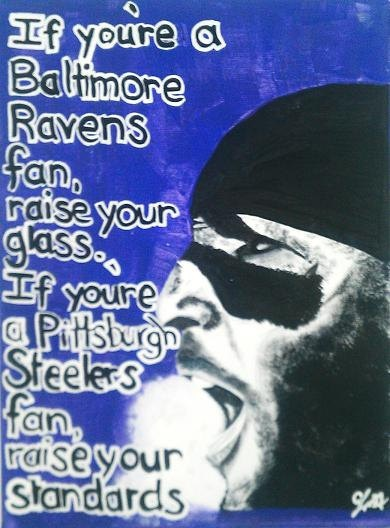 Baltimore Ravens Ray Lewis Painting by LafulpPaint on Etsy, $30.00