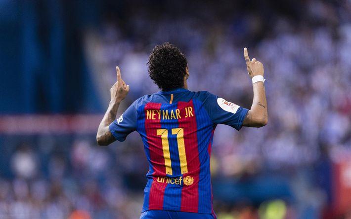 Scarica sfondi Neymar, il Barcellona, il Brasiliano, giocatore di calcio, La Liga, calcio, Neymar da Silva Santos
