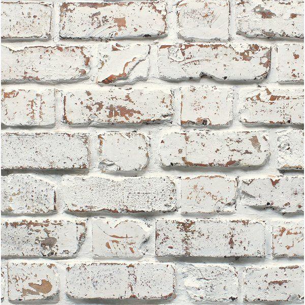 Mccluney 33 L X 20 5 W Brick Wallpaper Roll Brick Effect Wallpaper White Brick Wallpaper Brick Wallpaper