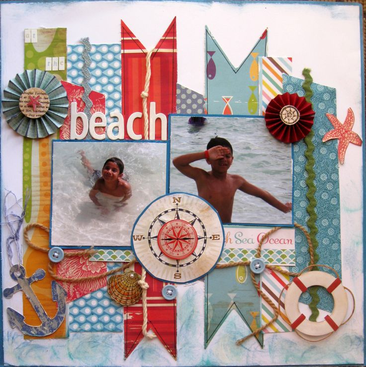 1000+ Images About Scrapbook Pages (Beach) On Pinterest