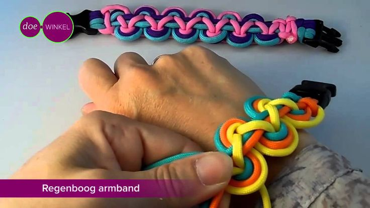 Regenboog Armband Paracord NL, Nederlands!