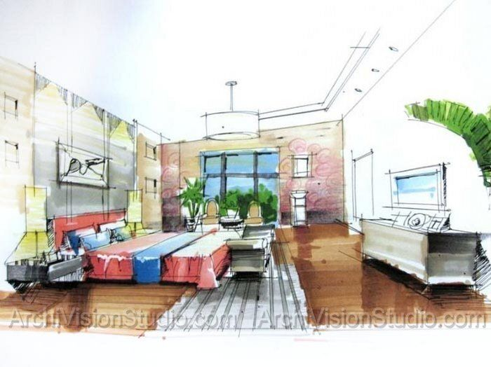 1742 best interior design sketches images on pinterest for Certified interior designer