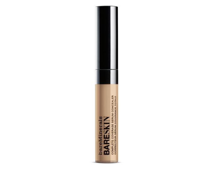 bareMinerals bareSkin Complete Coverage Serum Concealer: The consistency of this antioxidant-packed concealer is way more lightweight and liquidy than you are most likely used to, so you only need a tiny, tiny drop under your eyes to make everything look brighter and better.