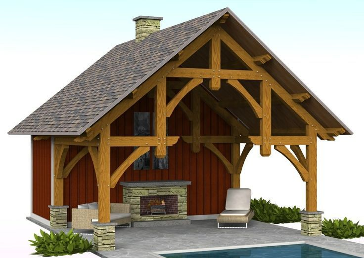 Timber Frame Pavilion Plans on Pinterest | Pavilion, Timber Frames ...