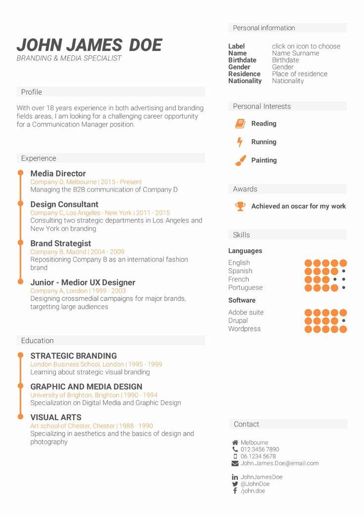 40 Skills Based Resume Template Free in 2020 Resume