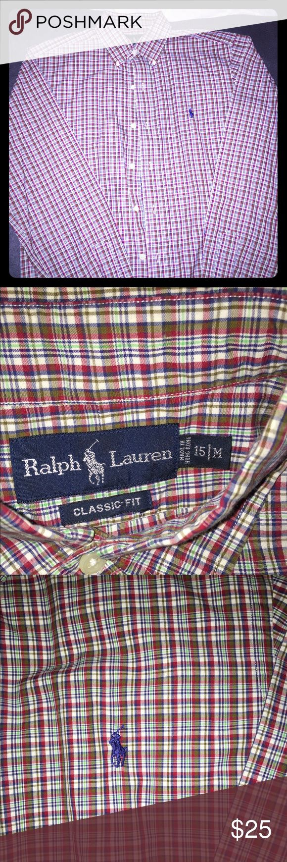 Men's Ralph Lauren Classic Fit Button Down - M You are looking at a EUC Men's Ralph Lauren plaid button down...this is a classic fit (meaning looser not tailored/slim fitting), in a size Medium. This is an awesome shirt and great for summer or winter time wearing! No stains, tears, etc. If you have any questions please feel free to ask! Thanks! 😎 Ralph Lauren Shirts Casual Button Down Shirts