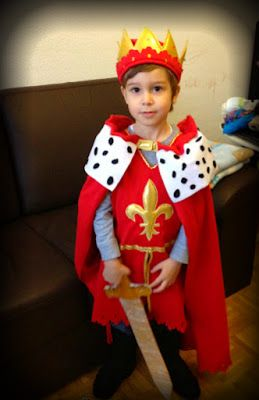 Home Made Childrens Queen Of Hearts Costume