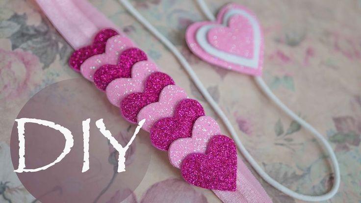 Детские украшения из глиттерного фома к 14 февраля. DIY