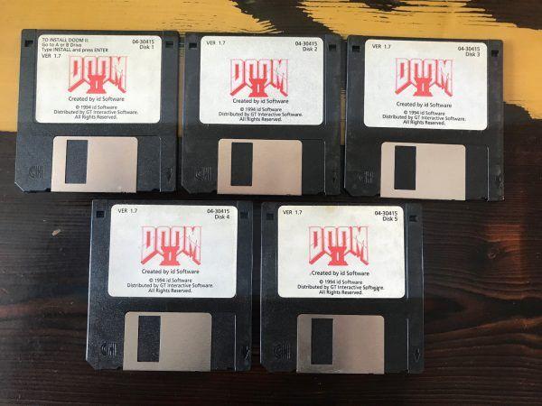 John Romero is auctioning off his DOOM 2 floppy disks #VideoGames #auctioning #disks #floppy #romero