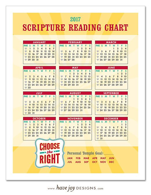 2017 Scripture Reading Chart - Free Printable