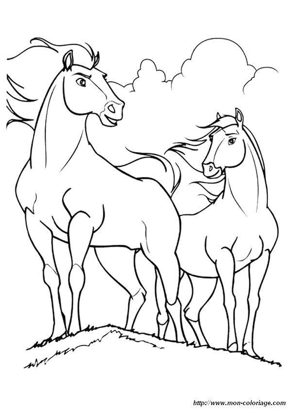 Colorear Caballo Dibujo Coloriage Spirit 3211 Dibujos De