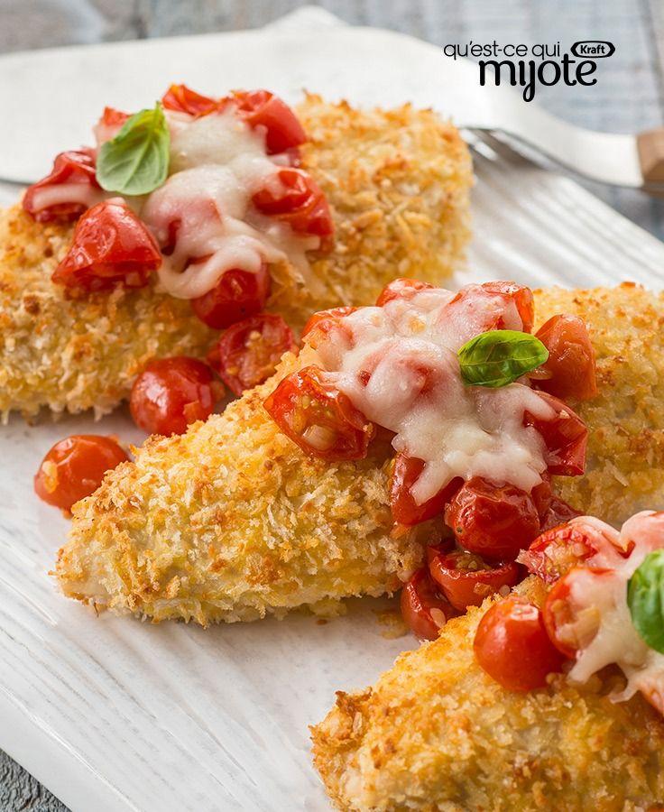 Poulet parmesan aux tomates rôti au four #recette