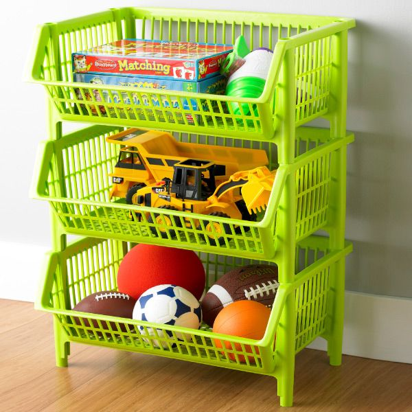 Exceptional Garage   A Place For All The Balls And Small Toys!  Container Store