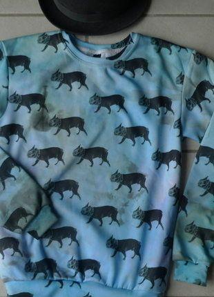 À vendre sur #vintedfrance ! http://www.vinted.fr/mode-femmes/sweat-shirts/26228008-sweat-shirt-bittersweet-dessin-bouledogues-t-3436s
