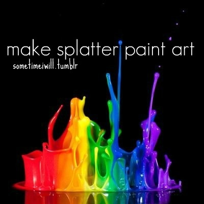 Splatter paint one day pinterest for 1 day paint