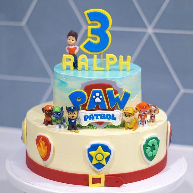 Fabulous Cuteness Alert Paw Patrol Cake For Ralphs 3Rd Birthday Sammurtis Personalised Birthday Cards Veneteletsinfo