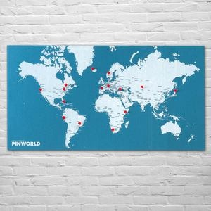 Karte Pin World Blau, 34€, jetzt auf Fab.