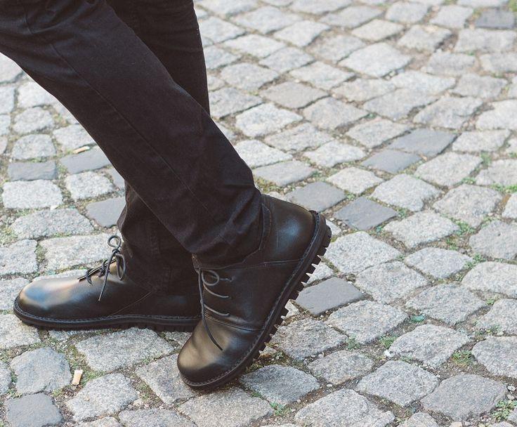 Trippen Haferl Herren Schnürschuh lace-up Leder Leather schwarz