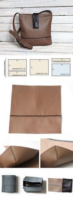 Женская сумка из кож-заменителя: выкройка и мастер класс по шитью   Hand made_Рукоделие. Сделай сам!   Постила