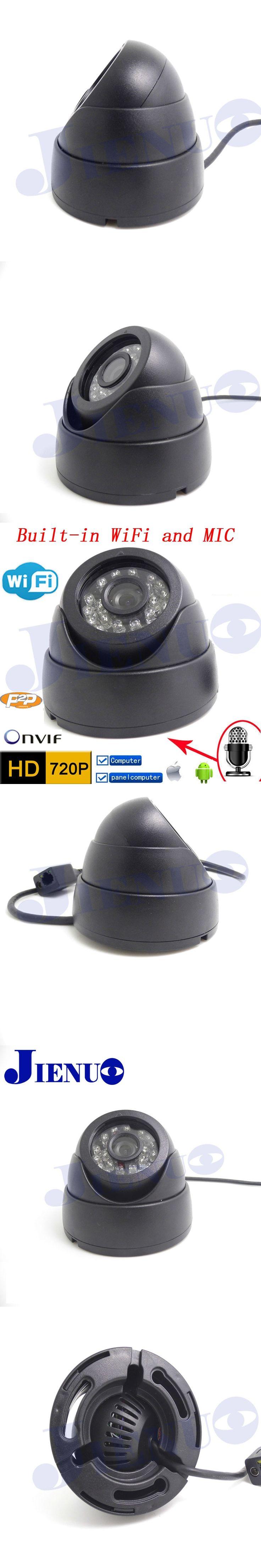 Wifi Ip Camera Audio 720p HD  CCTV Systems MIC Wireless P2P Indoor Dome Kamera Infrared Mini Onvif H.264 IR Night Vision CAM