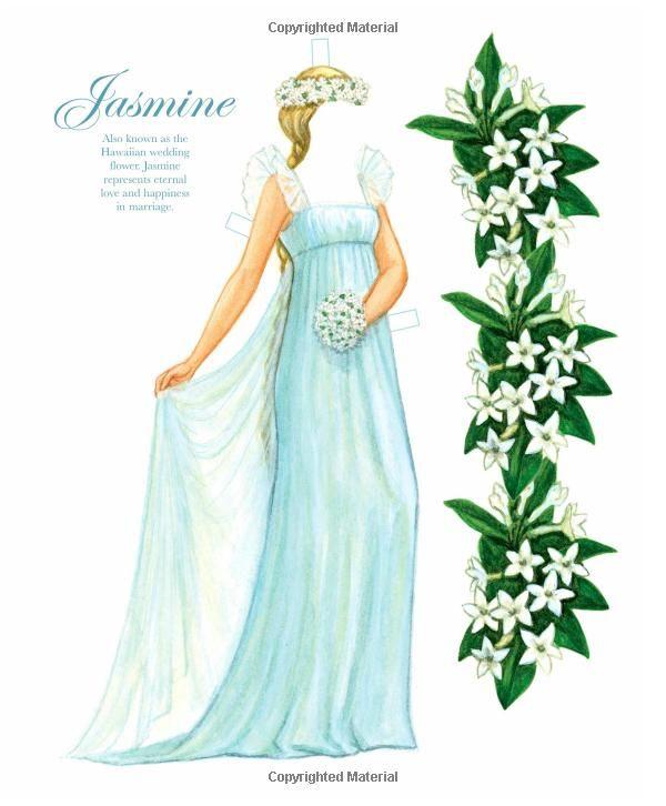 Floral Brides Paper Dolls: Brenda Sneathen Mattox, Paper