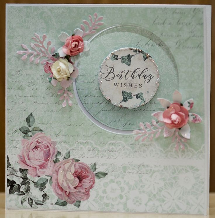 Craftwork cards created using the  Shabby Chic collection and handmade flowers.